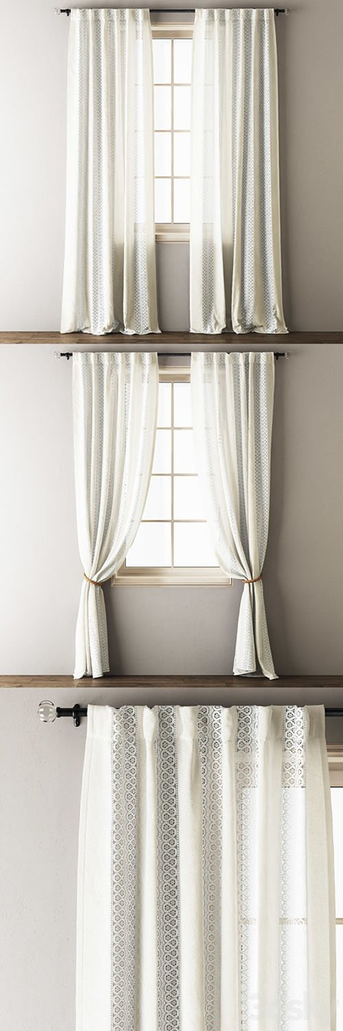 Anthropologie Lace Curtains - 3D Models [3ds Max]