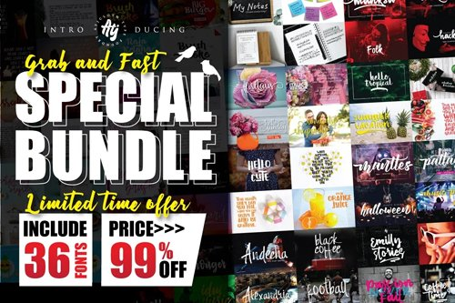 Special Bundle - 36 Fonts