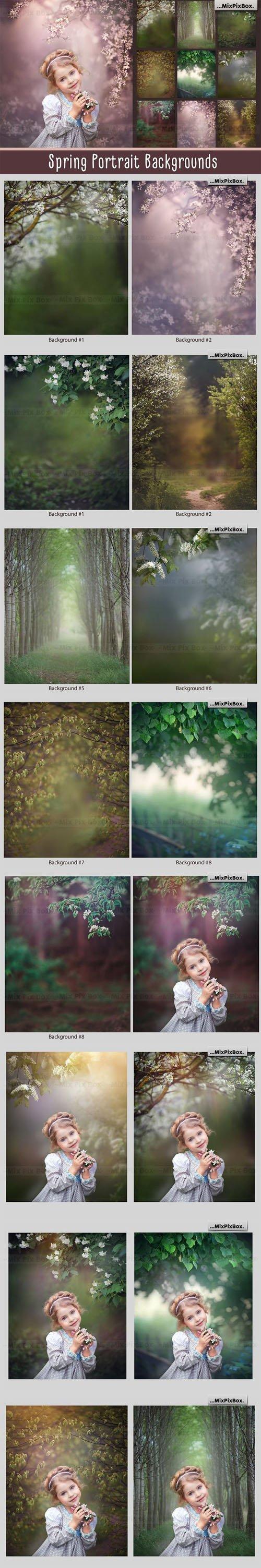9 Spring Portrait Overlays & Backgrounds