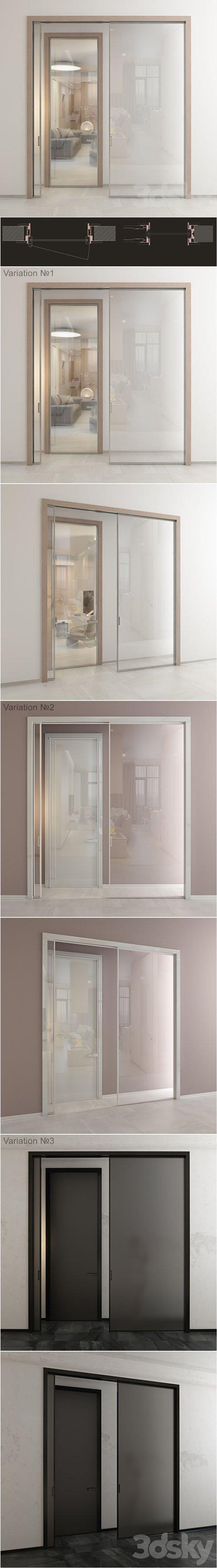 Doors - ADL Adielle - Mitika 2 - 3 variations - 3D Models [3ds Max]