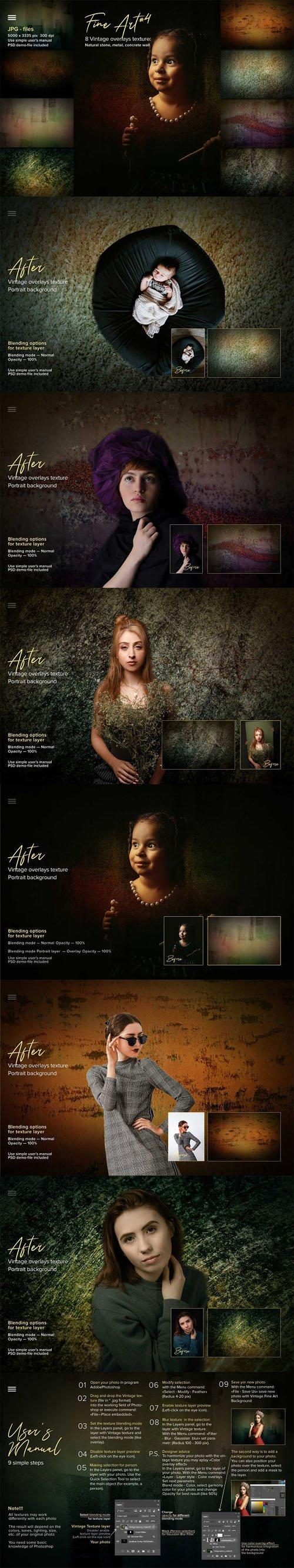 Fine Art Vintage Overlays & Portrait Textures Vol.4