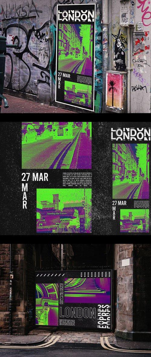 2 Urban Poster PSD Mockups