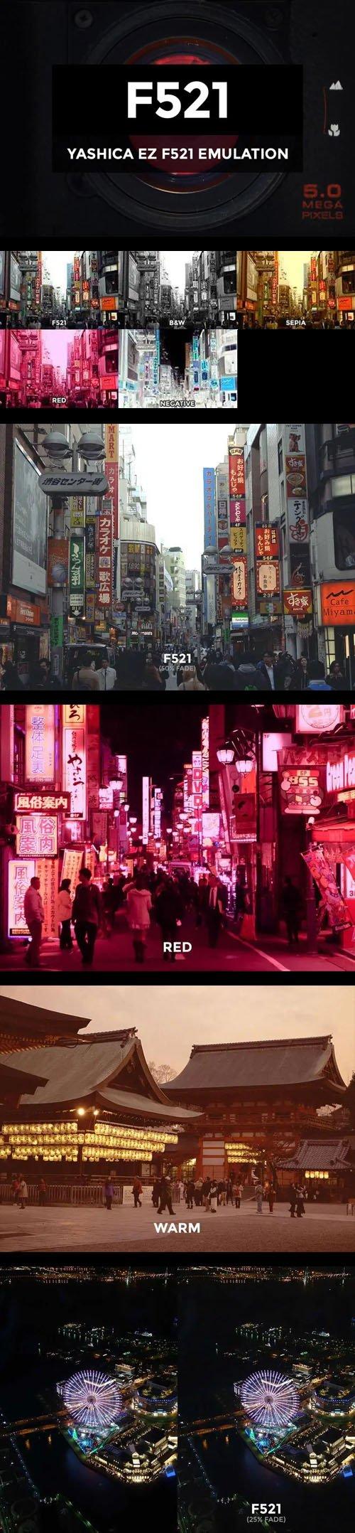 Yashica EZ F521 Camera Emulation - Photoshop Actions