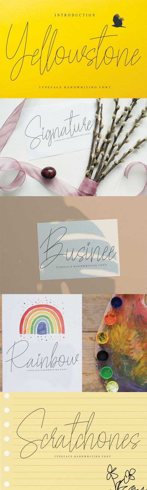 Yellowstone Handwritten Typeface