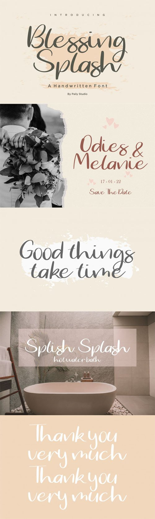 Blessing Splash Handwritten Font
