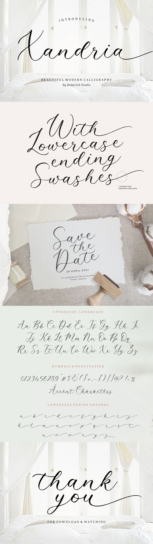 Xandria - Beautiful Modern Calligraphy Font