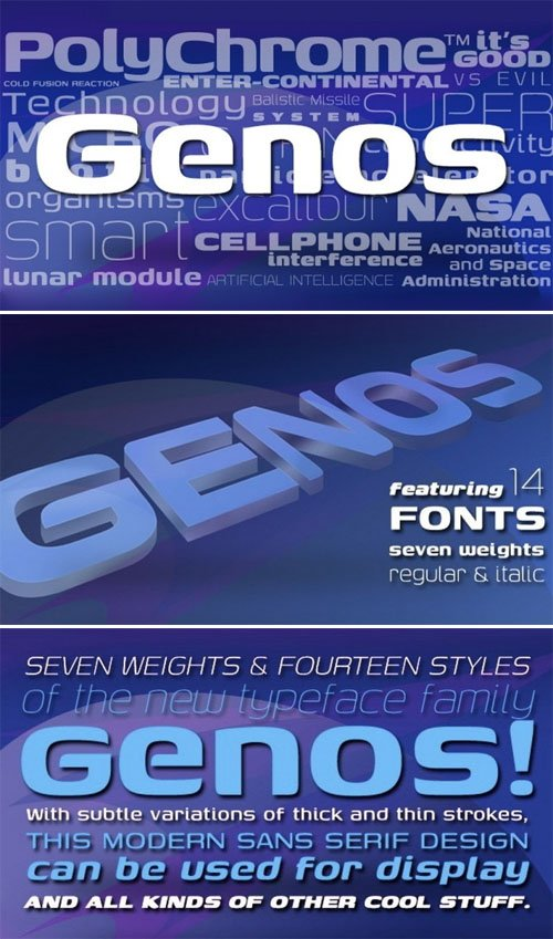 Genos Sans Serif Font Family [14-Weights]