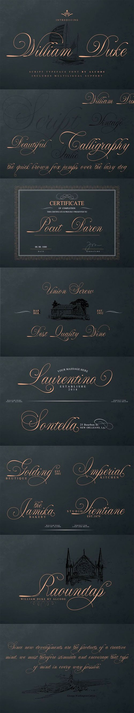 William Duke - Script Typeface Font