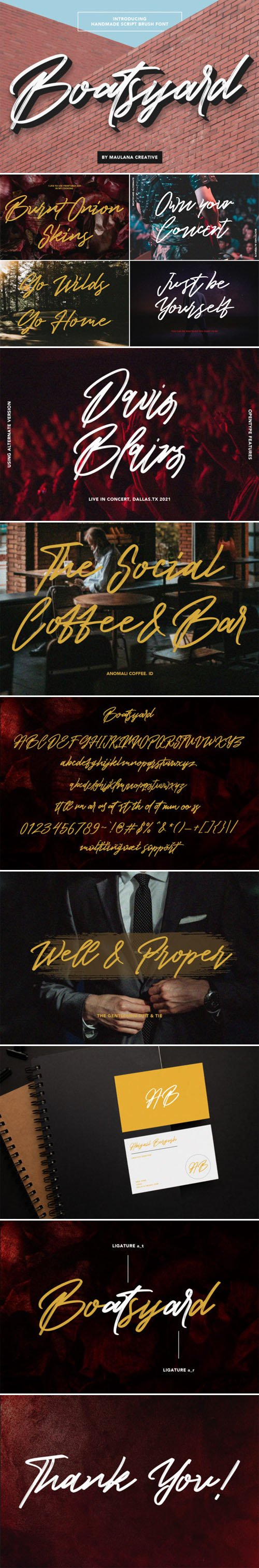 Boatsyard - Lovely Brushed Handwritten Font [2-Weights]