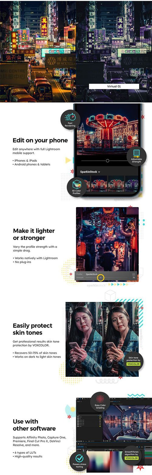 Cyber Retro - 20 Mobile & Desktop Presets