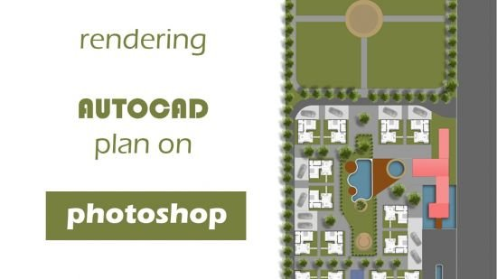 Rendering an AUTOCAD plan on Photoshop