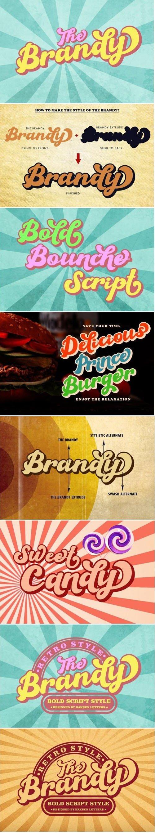 The Brandy Bold Retro Script Font