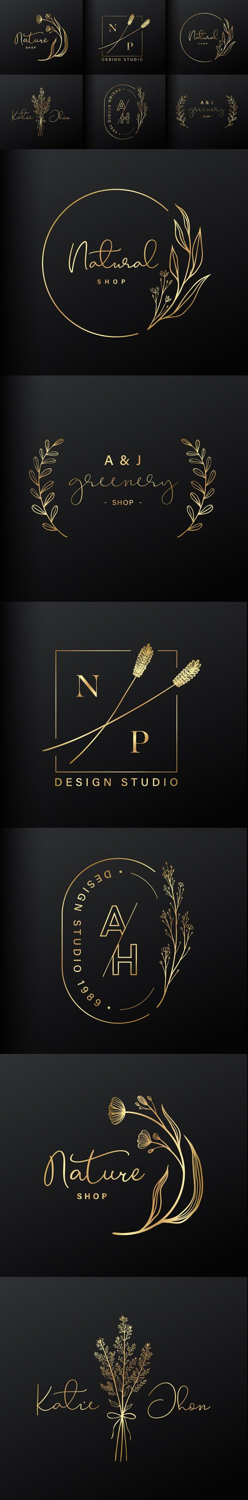 6 Luxury Logo Design Vector Collection for Branding and Coporate Identity