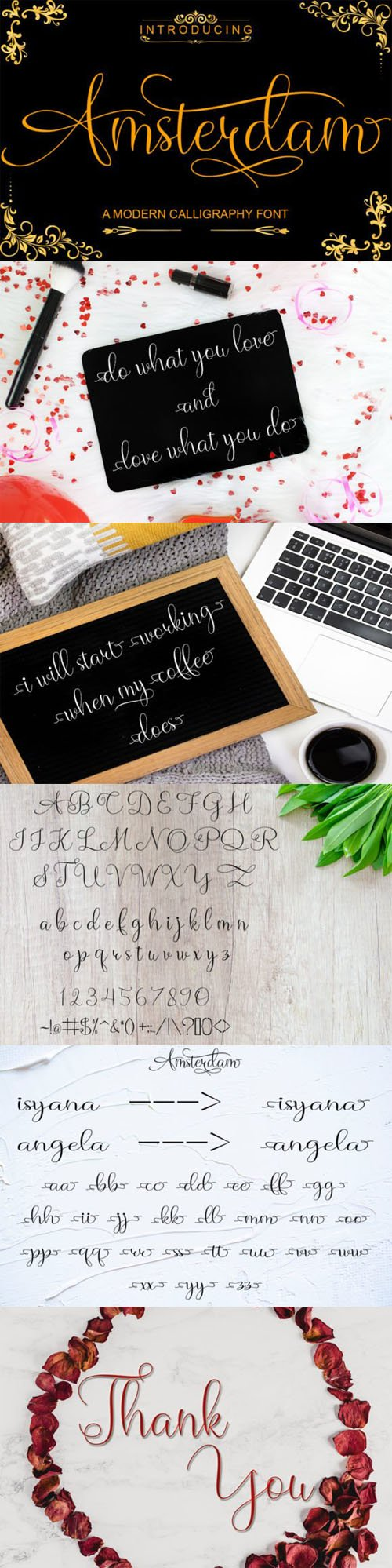 Amsterdam - Modern Calligraphy Font