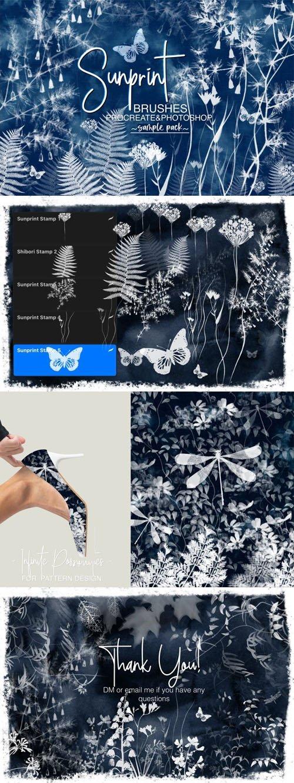 Sunprint - Procreate & Photoshop Brushes