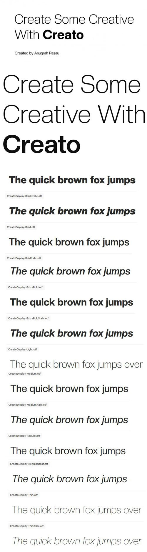 Creato Sans Serif Font Family [14-Weights]