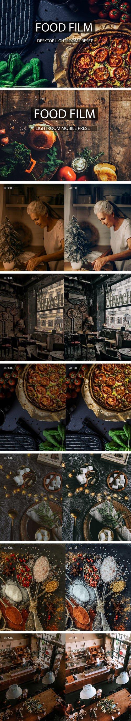 Food Film - 12 Mobile & Desktop Lightroom Presets