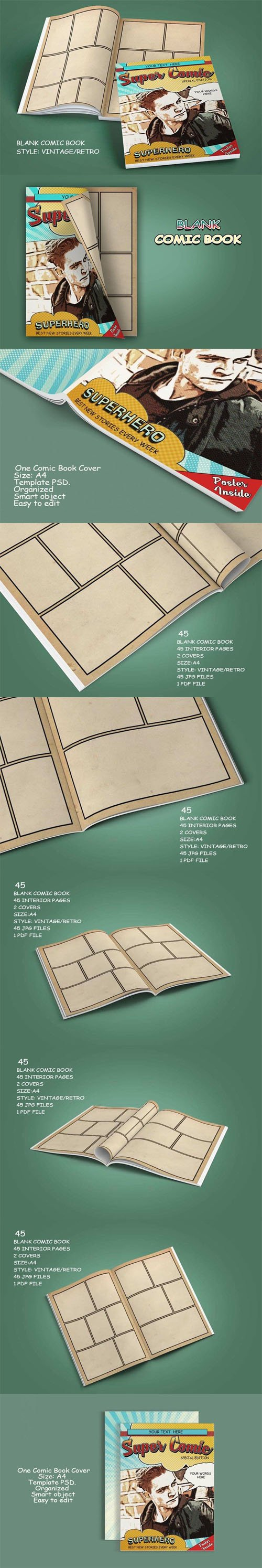 Blank Comic Book Pages & Covers