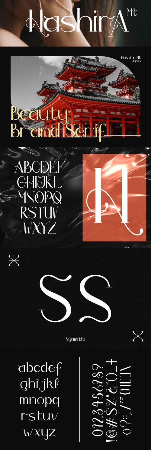 Hashira Mt - Luxury Serif Font