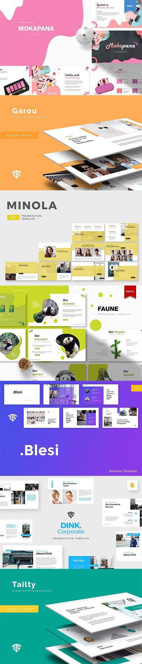 Powerpoint, Keynote and Google Slides Templates Bundle 2