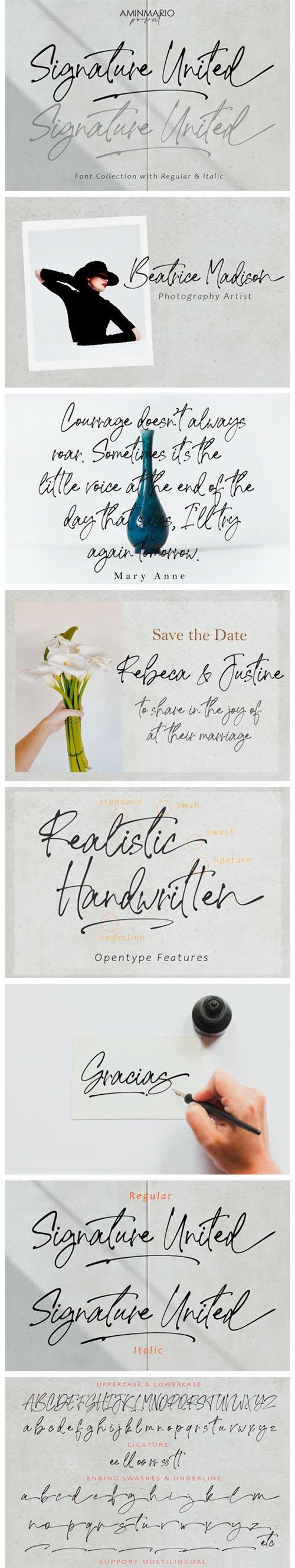 Signature United - Stylish Handwritten Font [2-Weights]
