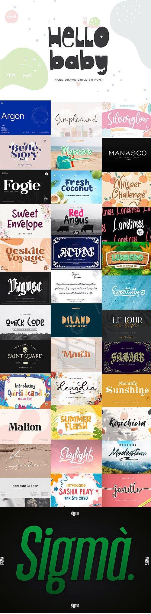 Super Fonts Pack Vol.6 [Jul/2020] - 37 Fonts