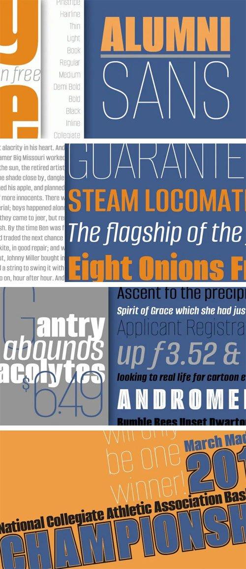 Alumni Sans Serif Font Family [18-Weights]