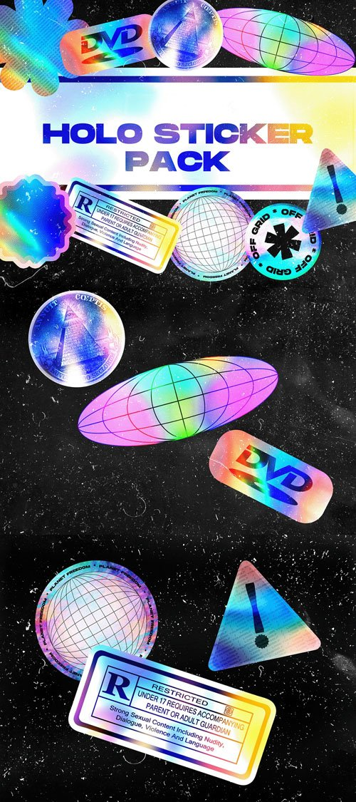 9 Holo Stickers Pack