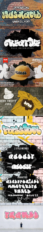 Wushand - Decorative Graffiti Font [2-Weights]