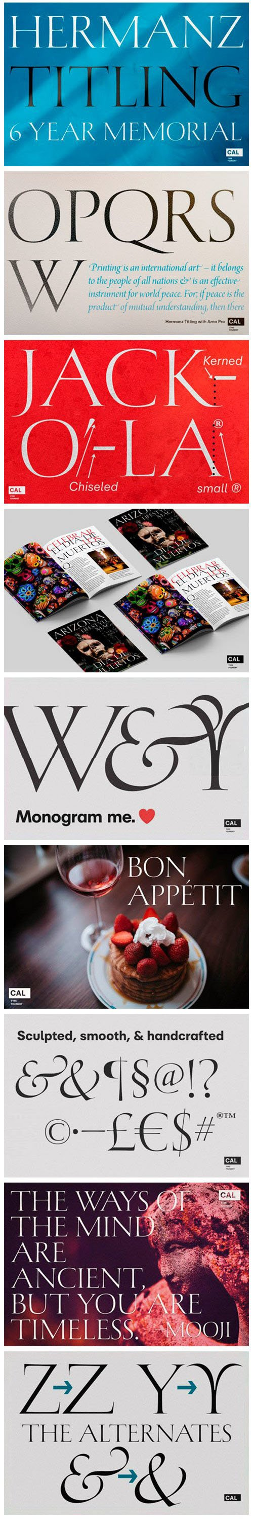 Hermanz Titling - Elegant, Thin and Delicate Serif Font