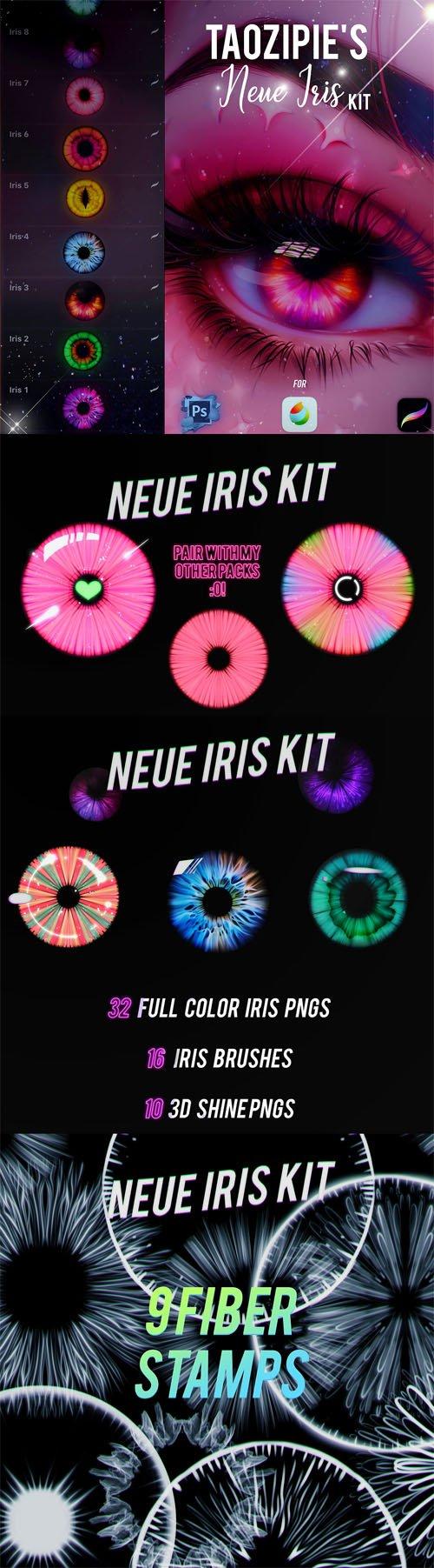 Iris Kit - Brushes Pack for Photoshop/Procreate/Medibang
