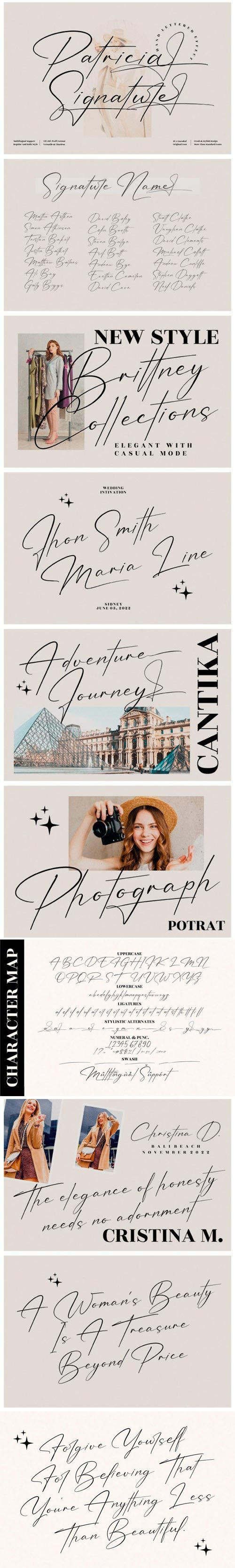 Patricia Signature - Handlettered Effect Font [2-Weights]