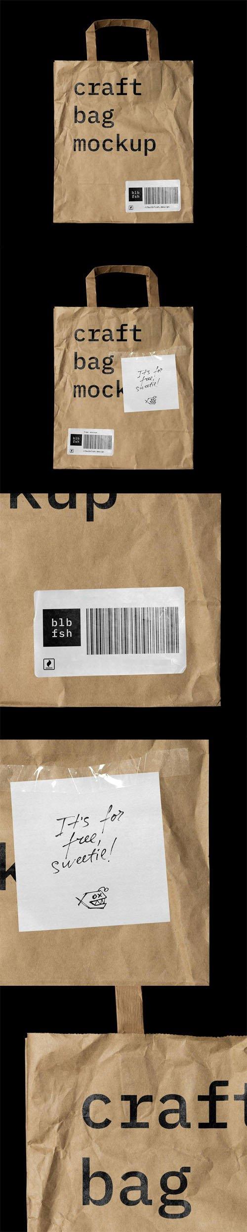 Craft Bag (PSD/PNG) Mockups Templates
