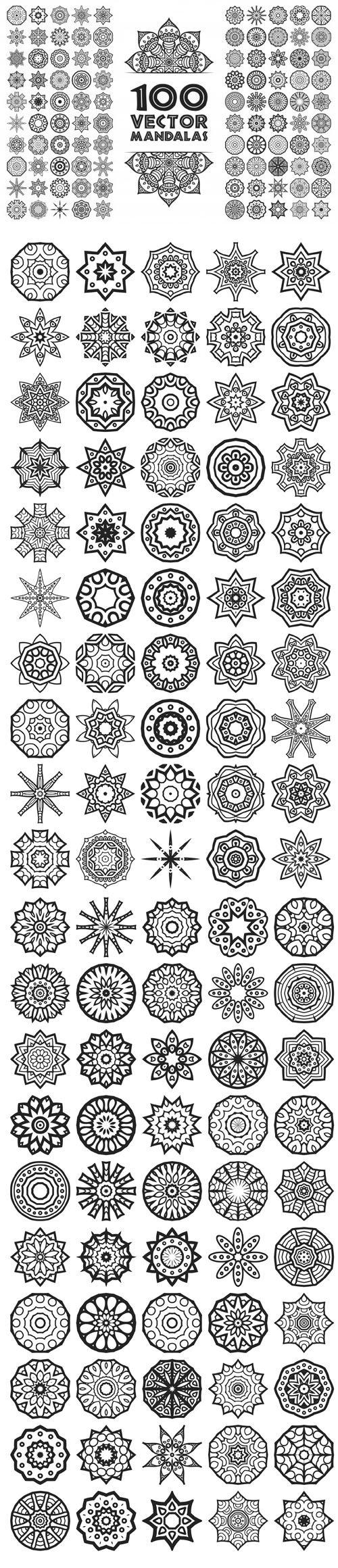 100 Vector Mandalas Collection