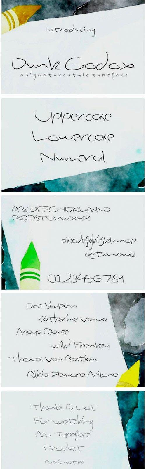 Dunk Godox - Brush Pen Font