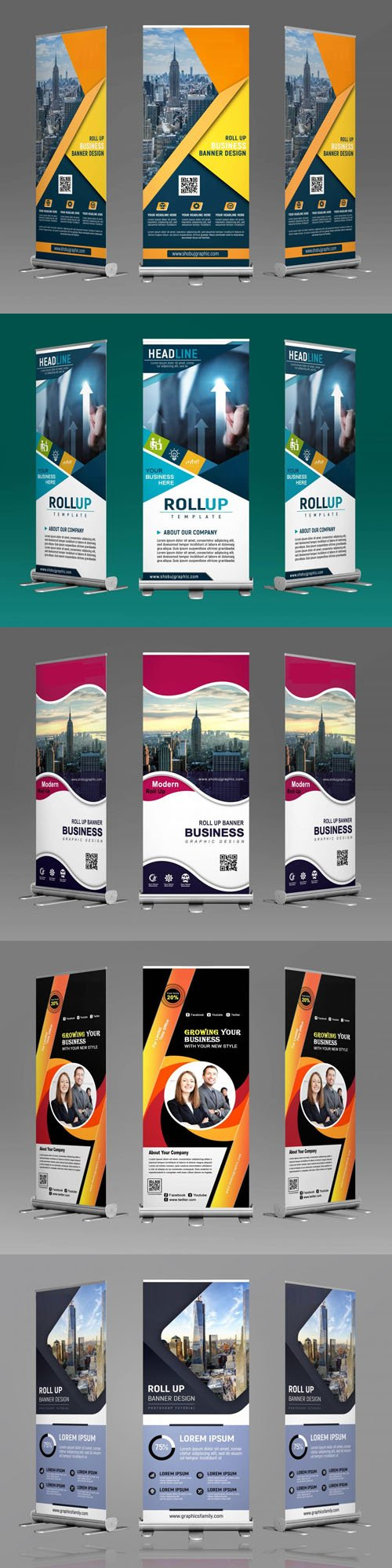 Roll-up Banners PSD Templates
