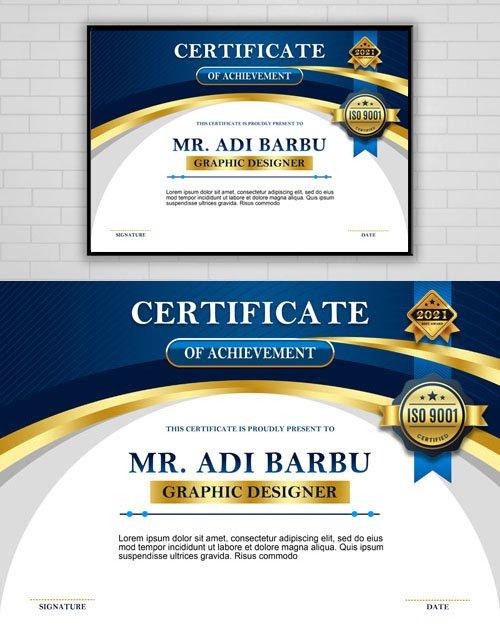 Certificate of Achievement - PSD Template