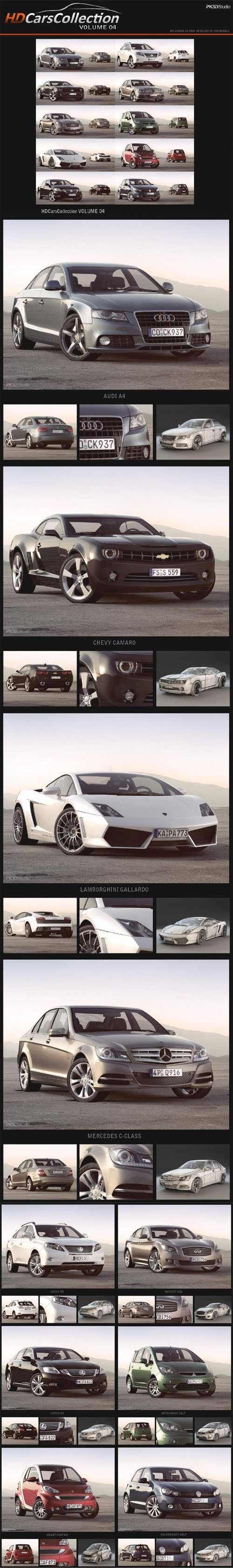 10 HD Cars Collection Vol.4