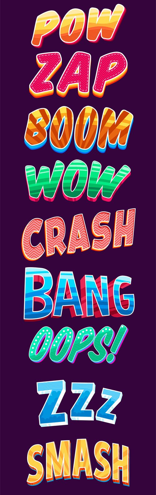 20 Awesome Text Effects Vector Ai Collection