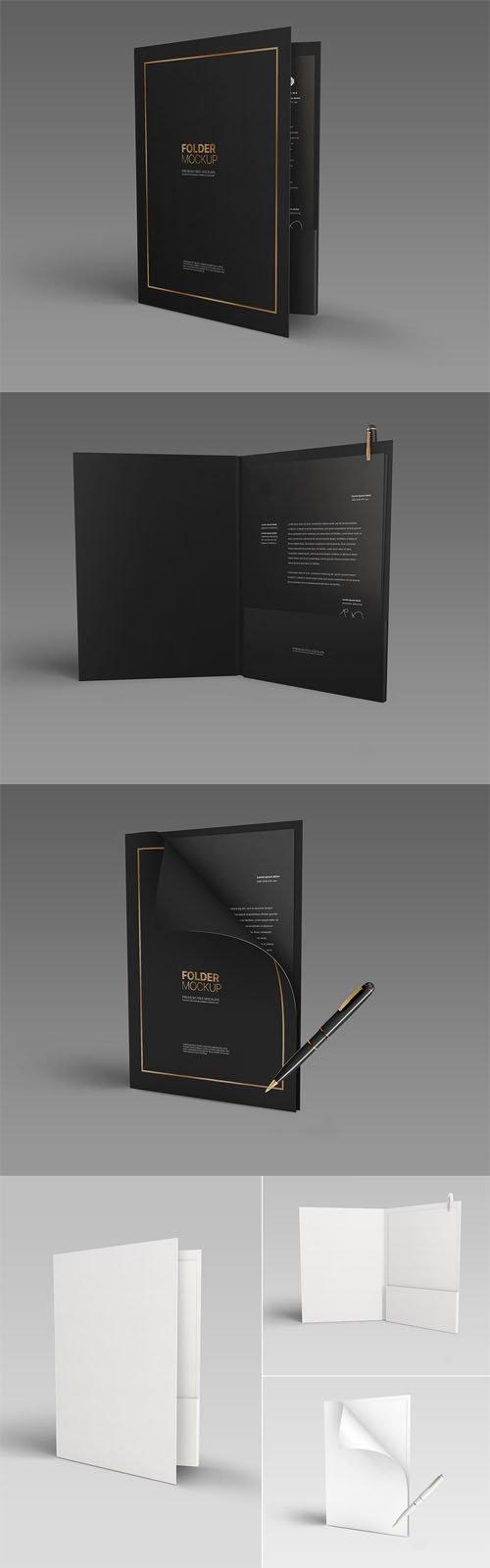 Pocket Folder PSD Mockup Templates