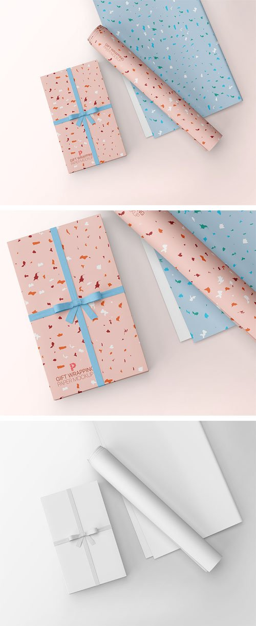 Gift Wrapping PSD Mockup Template