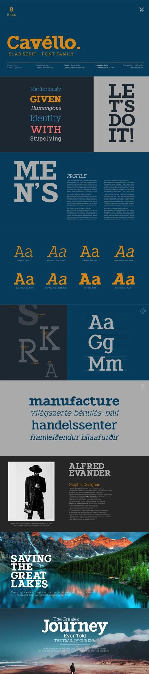 Cavello - Slab Serif Font Family [8-Weights]