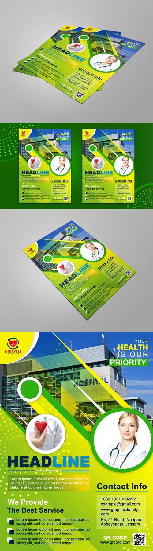 A4 Medical Flyer Design PSD Template