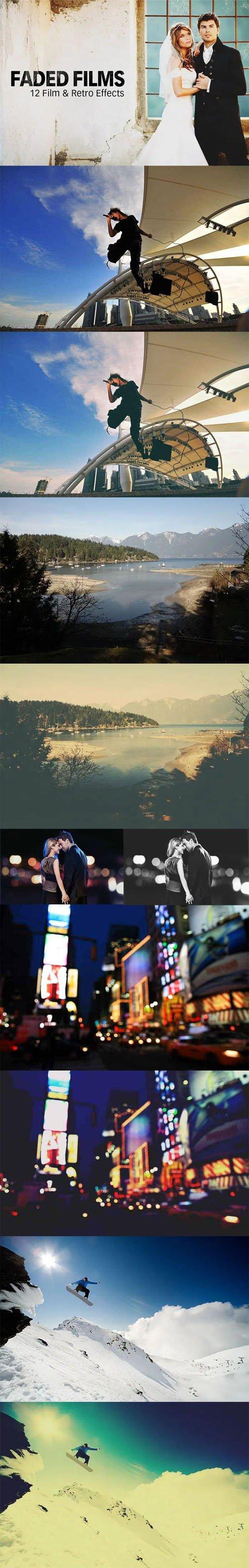 12 Film & Retro Effects - Instagram & Prestalgia Faded Film Actions for Photoshop