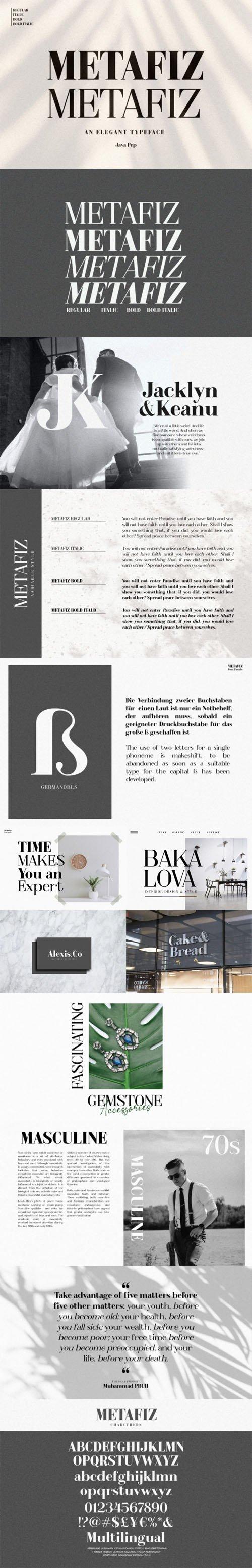 Metafiz - Elegant Bold Serif Typeface [4-Weights]