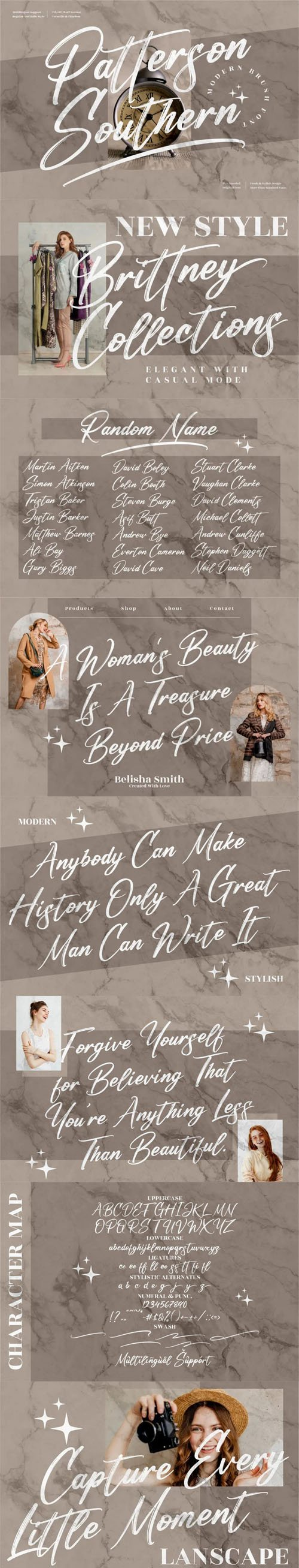 Patterson Southern - Modern Brush Font [2-Weights]