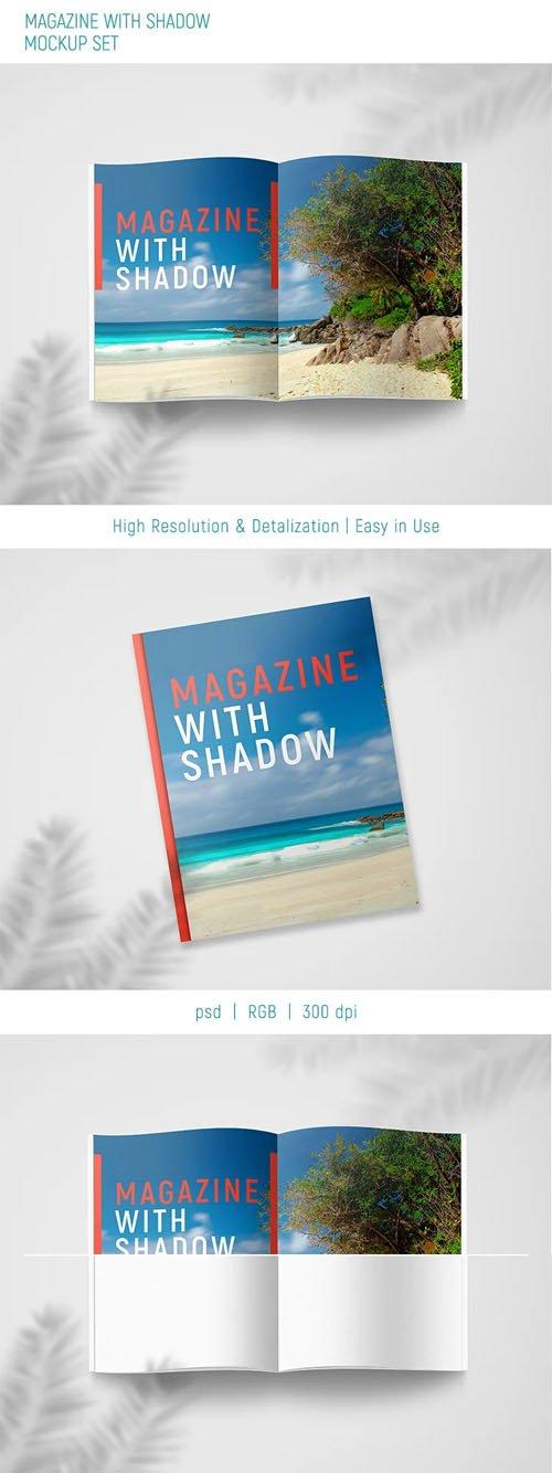 Magazine + Shadow PSD Mockup Template