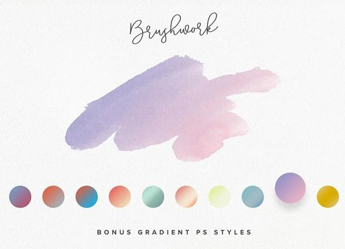 10 Gradient Photoshop Styles for Overlaying Painting Shapes