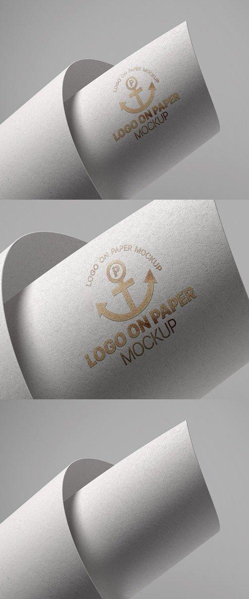 Logo on Paper PSD Mockup Template