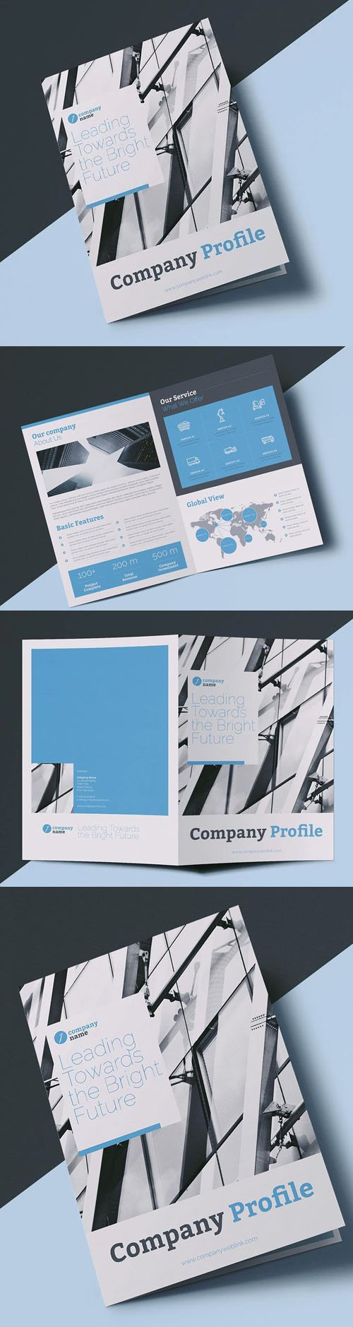 Company Profile InDesign INDD/IDML Brochure Template [4-Pages]